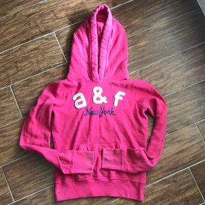 Pink A&F hoodie